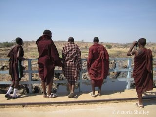 The Lion Guardians observing hippos in Ruaha National Park