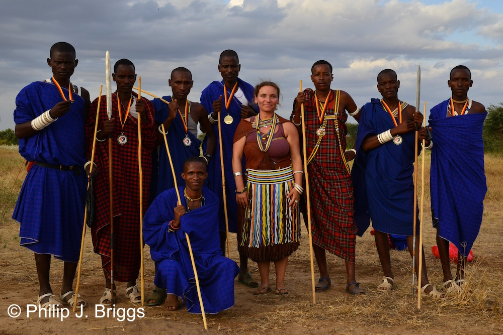 The whole Barabaig team came dressed to kill!