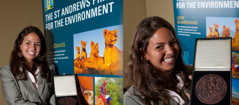 Lion Guardians Program wins St. Andrews Prize for the Environment